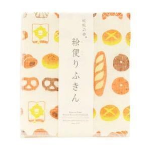 蚊帳の夢 絵便りふきん パン K-11 丸山繊維産業 n-kitchen