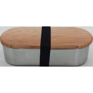 木蓋付きフードボックス 小判型 ステンレス 62034 アドバンスドア|n-kitchen