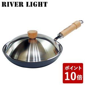 リバーライト 鉄 厚板 フライパン 28cm 極 ジャパン JS2328 蓋付セット IH対応 日本製 RIVER LIGHT 極JAPAN キャンプ アウトドア|n-kitchen