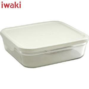 iwaki(イワキ) パック&レンジ 浅型 L (大) 1.3L ホワイト KN3248-W AGCテクノグラス|n-kitchen