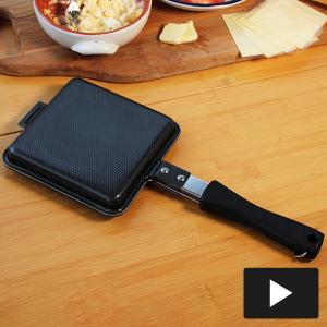 鉄製トースターパン 両面エンボス 下村企販|n-kitchen