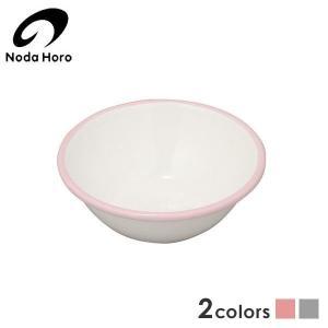 野田琺瑯 ホーローボール 16cm ピンク(ふち) BO-16P|n-kitchen