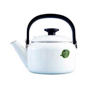 在庫限り 富士ホーロー DAILY WARE ホワイトリーフ 2.0Lケトル CODE:215008 冨士 琺瑯 フジ 日本製 白 デイリーウェア|n-kitchen