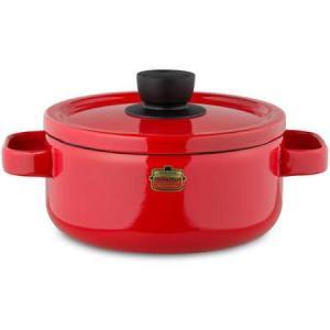 ソリッド キャセロール 20cm レッド D-20W-R 富士ホーロー|n-kitchen
