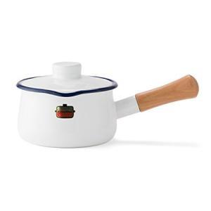 ソリッド 蓋付ミルクパン 15cm ホワイト SD-15M-W 富士ホーロー|n-kitchen