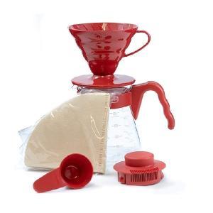 HARIO コーヒーサーバー02セット レッド ハリオ CODE:215344 赤|n-kitchen