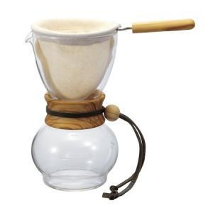 HARIO ドリップポット ウッドネック(オリーブ) 2-3杯 HARIODPW-3-OV ハリオ|n-kitchen