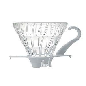 HARIO V60 耐熱ガラス透過ドリッパー01 ホワイト 1〜2杯用 VDG-01W ハリオ|n-kitchen