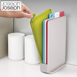 ジョセフジョセフ JosephJoseph インデックス付まな板 アドバンス2.0 スリム シルバー 60129|n-kitchen