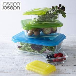 ジョセフジョセフ JosephJoseph ネスト ガラスストレージ 4ピースセット マルチカラー 81060 n-kitchen