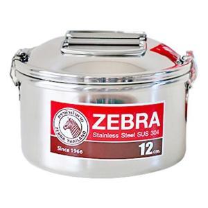 タイ屈指のステンレス食器メーカー「ゼブラ」のステンレススチールランチボックス。 どこか懐かしい雰囲気...