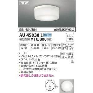 コイズミ照明 白熱灯60W相当 LEDアウトドアライト 軒下・勝手口灯 浴室可 昼白色 AU45038L◎|n-lighting