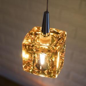 CUBE LED 1灯 アンバー / ペンダントライト / 玄関 / ダイニング / カウンター / カフェ / インテリア n-marche