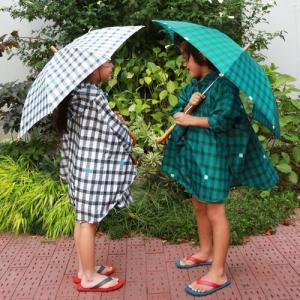 キッズ長傘 【392 plus m】 gingham 45cm 雨傘 n-marche