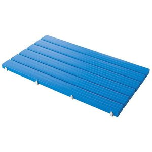 山崎産業 YSカラースノコ・セフティ抗菌 エンドキャップ付 L型 青 3セット入 1箱|n-mark