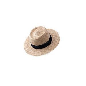 天然草帽子 #6796 紳士・麦・2.5寸・帯 フリーサイズ 1枚 n-mark