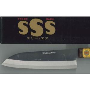 ステンレス三徳包丁 木柄 SSS印 1丁|n-mark