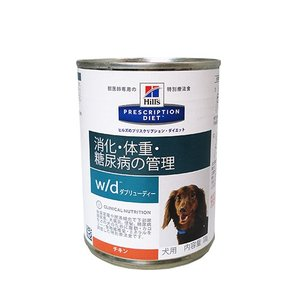 Hills ヒルズ w/d 370g缶-犬用療法食-の画像