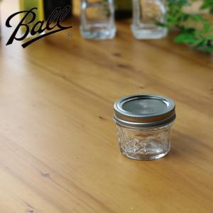 ( メイソンジャー キルトクリスタル 130 ) Ball ボール 保存 瓶 容器 密封 ガラス ジャム アメリカ製|n-raffine