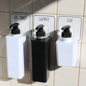 ( Otel オテル マジックシートフック ポンプボトル ホルダー ) パラデック 壁 お風呂 バス 収納 浮かす シャンプー コンディショナー ボディソープ ボトル|n-raffine