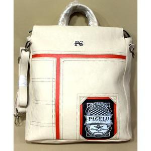 アンジェロ パジェロ ショルダーバッグ 4WAY ホワイト 50%OFF リュック メンズ レディース 71−0201−07|n-shopping
