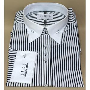 BBCO ビビコ ドレスシャツ クレリックシャツ カッターシャツ ワイシャツ ストライプ w-14108-1|n-shopping