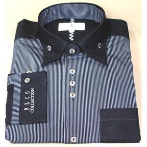 BBCO ビビコ クレリックシャツ カッターシャツ ワイシャツ ストライプ w−15105−1|n-shopping