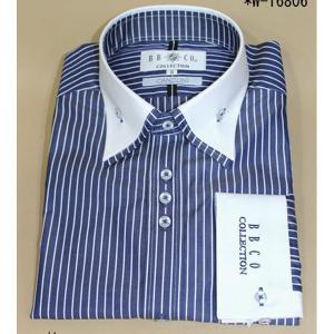 BBCO ビビコ ドレスシャツ クレリックシャツ カッターシャツ ワイシャツ ストライプ w−16806−1|n-shopping