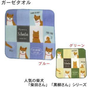 柴犬 人気シリーズ「柴田さん」のガーゼ素材ハンドタオルです。HW-135-57 人気の柴犬 しばたさ...