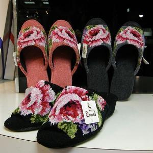 ヒールスリッパ シェニール織り ヒール 約5cm|n-shopping