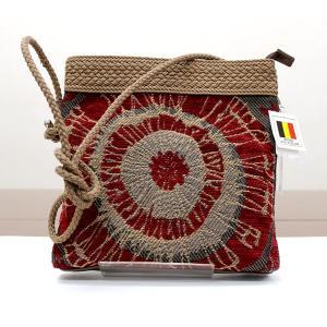ゴブラン バッグ ショルダー レディース 日本製 ベルギー製生地 レッド n-shopping