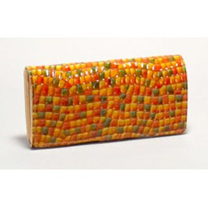 長財布 レディース 本革 日本製 かぶせタイプ FU-SI FERNALLE イタリア製牛革 オレンジ n-shopping