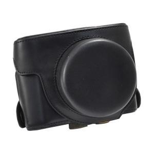 PowerShot G1X Mark 2 カメラケース&ネックストラップセット Canon(キヤノン) 合皮レザーケース n-style
