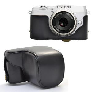 カメラケース OLYMPUS PEN E-P5 ミラーレス一眼 レンズキット対応 ボディーケース&ネックストラップセット n-style