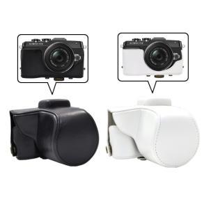 カメラケース OLYMPUS PEN Lite E-PL7 レンズキット対応 ボディーケース&ネックストラップセット n-style