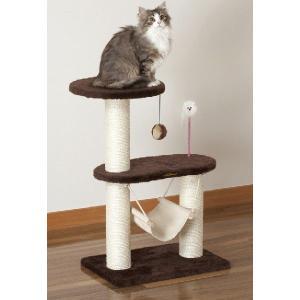キャティースクラッチ リビング コンパクトハンモック (キャットタワー) ドギーマン 猫用タワー|n-style