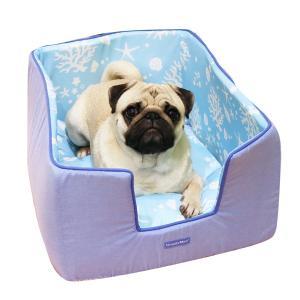 犬用ベッド シャーベットタッチ シェルマリン ボックスベッド 抗菌・防臭 ひんやり 冷感 ペットベッド 春夏...