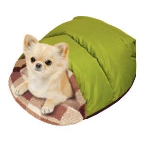 ドギーマン 電気のいらない ふかふかダウンベッド S 小型犬用ベッド カドラー  秋冬 ペット用 犬猫用 あったか n-style