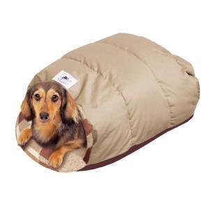 ドギーマン 電気のいらない ふかふかダウンベッド M 小型犬用 ベッド カドラー  冬 ペット用 犬猫 あったか