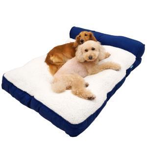 ビッグワンスクエアクッション  XL(座面約78×70cm) ペット用ベッド 大型犬用 秋冬 ドギーマン