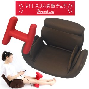 ネトレスリム 骨盤チェア プレミアム I型 骨盤 ゆがみ矯正 姿勢矯正 クッション 座椅子 n-style