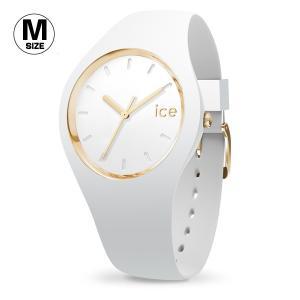 腕時計 アイスウォッチ ICE-WATCH ICE glam ホワイト ミディアム 3H レディース|n-style