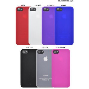 iPhone5 iPhone5S iPhone5 SEケース カラーシリコンケース ソフトケース スマホカバー|n-style