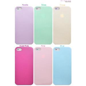 iPhone5 iPhone5S iPhone5 SEケース ハードケース ペールカラー カラバリ6色|n-style