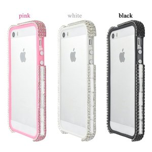 iPhone5 iPhone5S iPhone5 SE バンパーケース キラキララインストーン|n-style