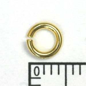 K18丸カン(1.0×5.0mm) 18金アクセサリーパーツ|n-style