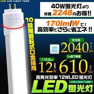 LED蛍光灯(40W型/120cm)昼白色 高発光効率(170lm/W)省エネ12W 119.8cm 全光束2040lm 2年保証・工事不要 セール n-style