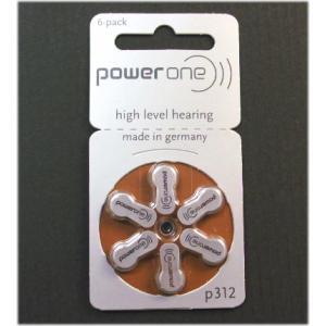 パワーワン 補聴器用 空気電池 PR41 P312  6個入 ドイツ製|n-style