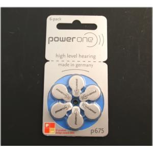 パワーワン 補聴器用 空気電池 PR44 P675  6個入 ドイツ製|n-style