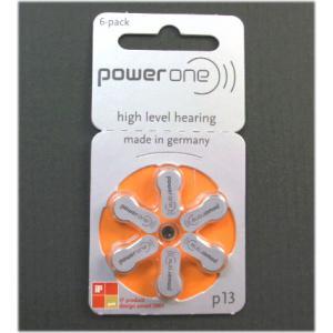 補聴器用電池 パワーワン 補聴器用 空気電池 PR48 (13) 6個入 ドイツ製 n-style